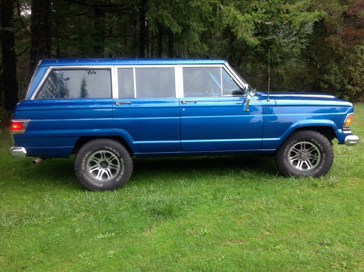 1972 jeep wagoneer 4x4 360 v8 auto for sale at the oregon coast. Black Bedroom Furniture Sets. Home Design Ideas